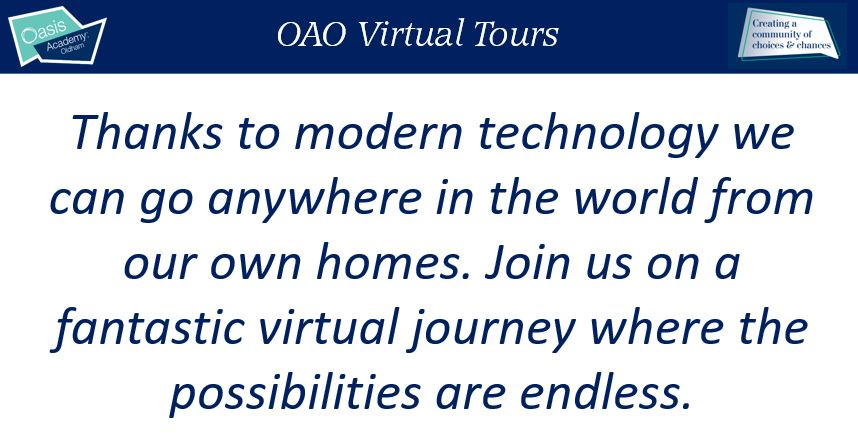 OAO Virtual Tours - come and take a look!