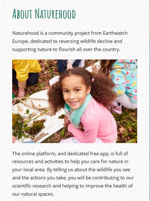 Naturehood - Something for you to check out over the Summer Holidays!